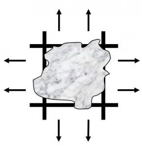 particula-atrapada-en-el-poro