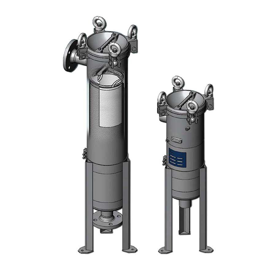 Carcasas filtros bolsa P1 y P2