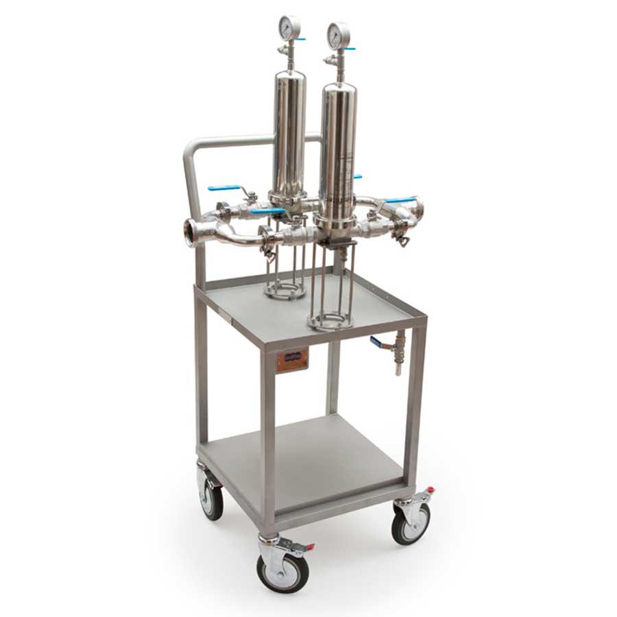 Equipos de filtración para filtros de cartucho