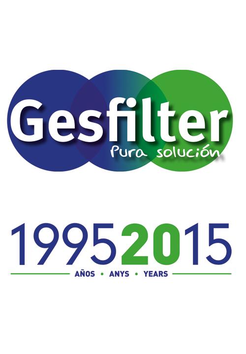 Logo Gesfilter 20 años
