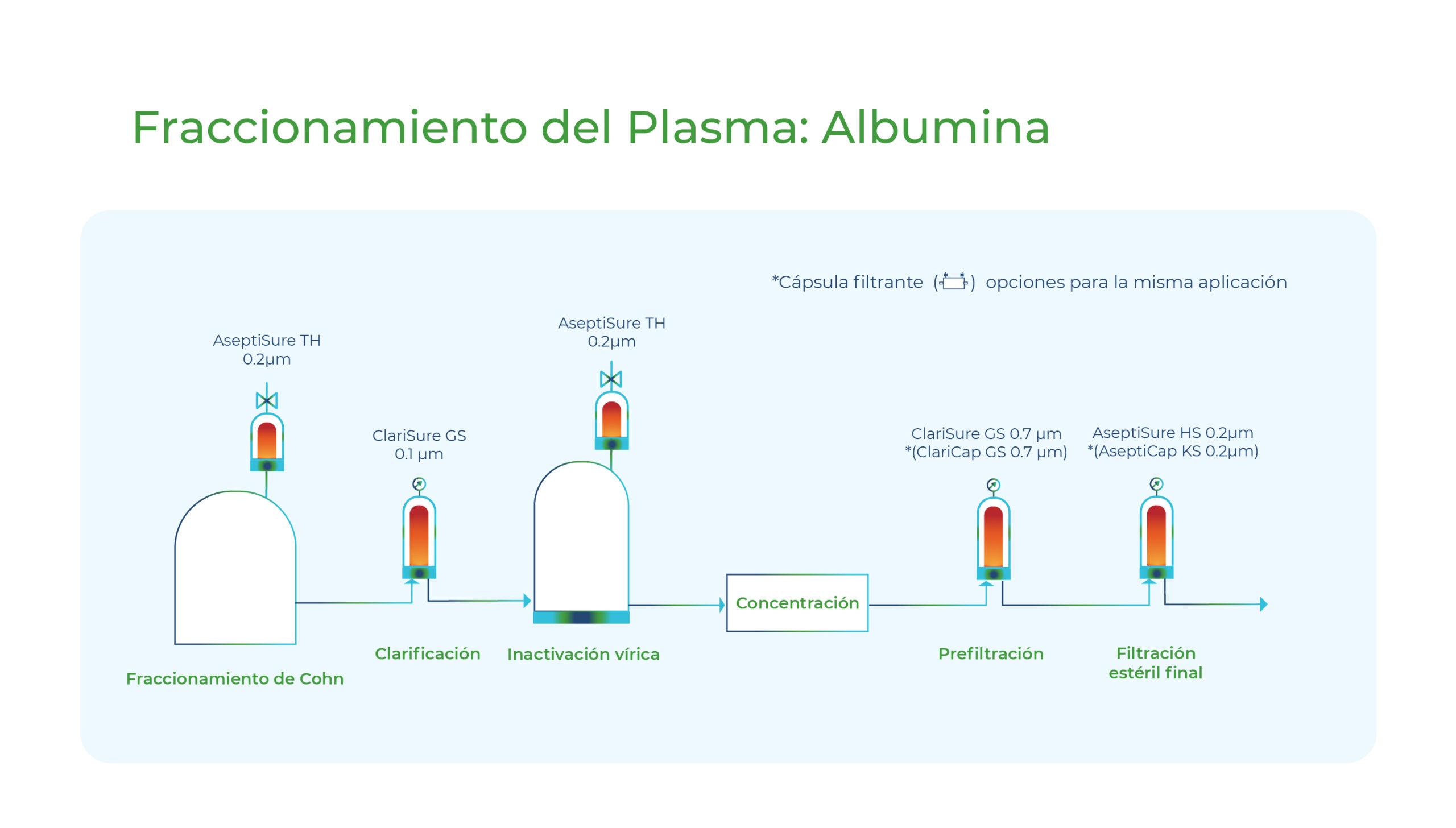 Diagrama Fraccionamiento del Plasma: Albumina. Gesfilter